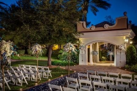 The Wedding Gazebo, tucked in the center of the resort's lush landscaping. Our most popular ceremony...