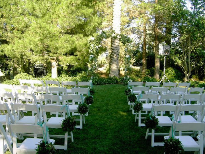 The Parian Lawn, a perfect ceremony venue for receptions hosted in the Parian Room.