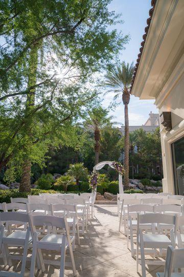 The Lagoon Patio Outdoor Wedding Ceremony