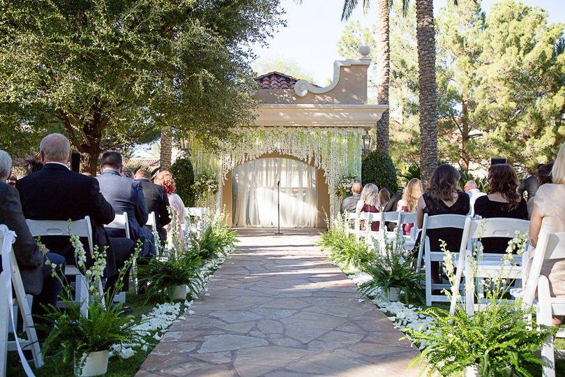 Garden Gazebo Wedding Ceremony