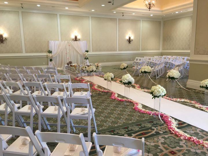Elegant Wedding Ceremony in Marbella Ballroom.