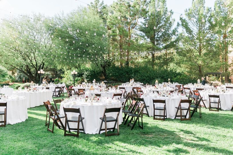 Reception on the lawn