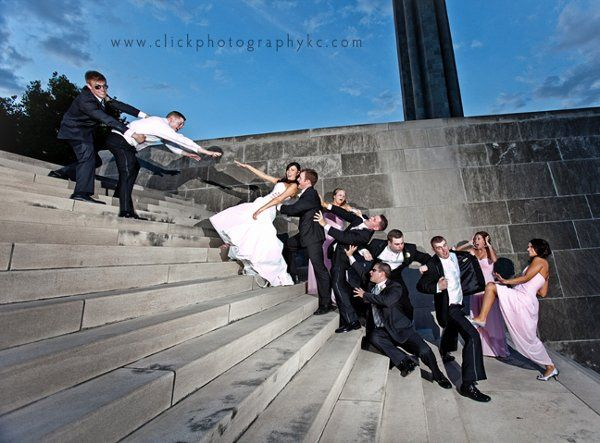 This image was actual thought up by one of the groomsmen...which goes to show, we love when our...