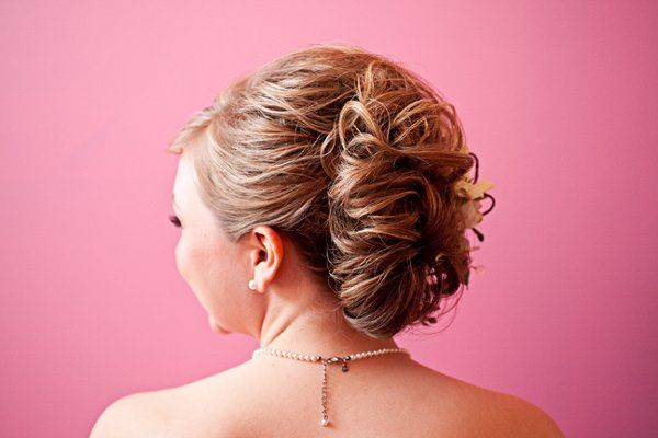 Taken in the Bride's childhood bedroom as she go ready...had to capture the amazing up-do.