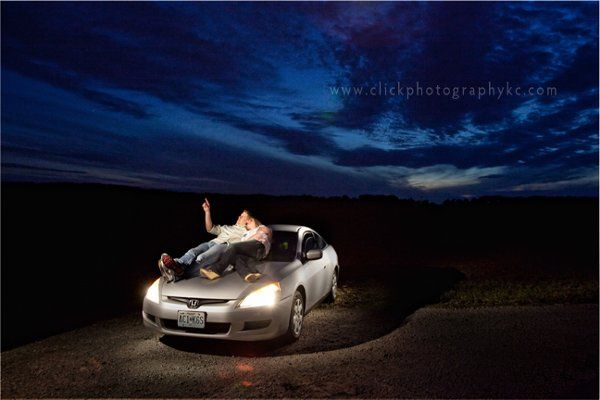 From the engagement session...and fantastic night shot showing off something special our clients do...