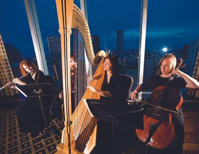 Harp, Flute, Violin and Cello at the Petroleum club!