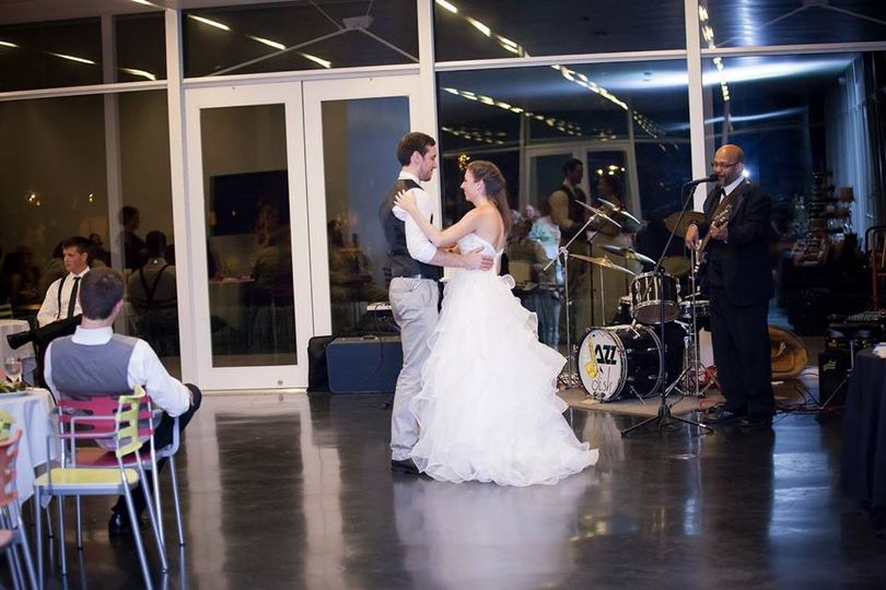 Bride and Groom dancing to Avalon Jazz Trio
