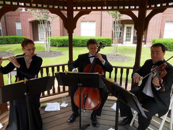 Avalon Trio playing Garden Party at the Buckingham
