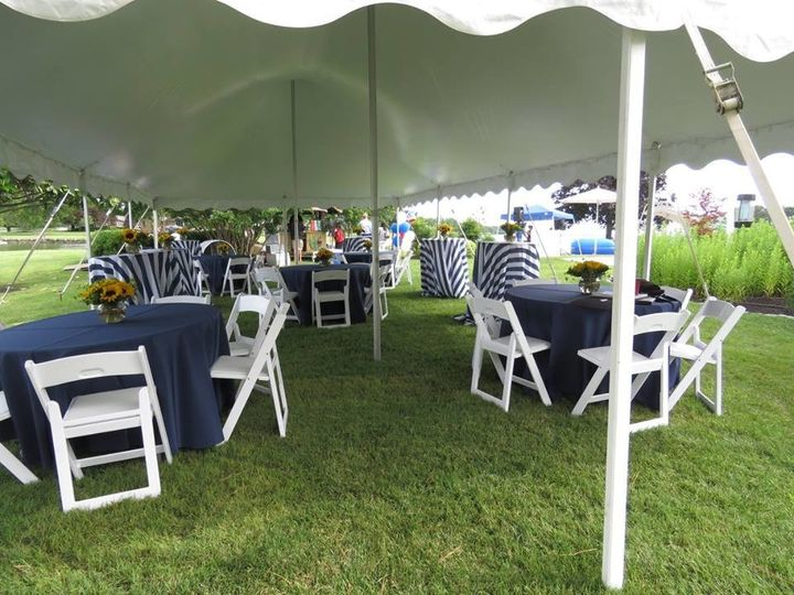 raynor tables under tent
