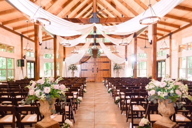 Indoor ceremony setup