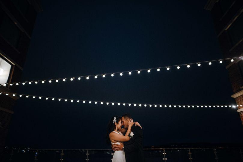 Beneath twinkling lights (Anthony Godines Photography)