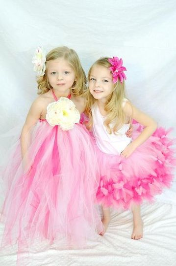 Tutu dress with large flowers are a big hit!  Petti tutu's are fun, frilly and cute!
