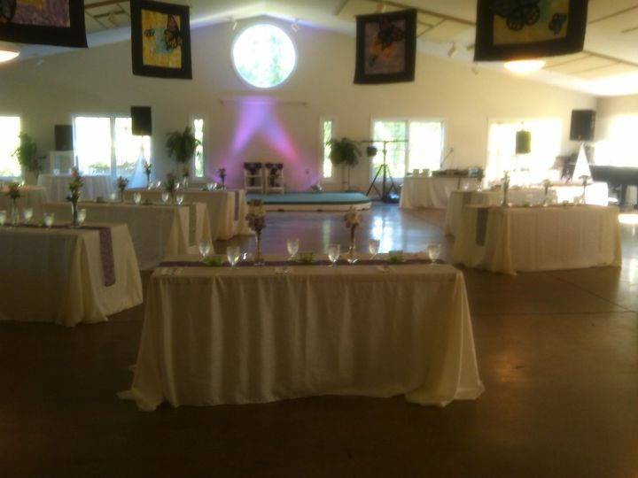 The wedding reception which was held inside Neshoba Unitarian Universalist Church in the Memphis...