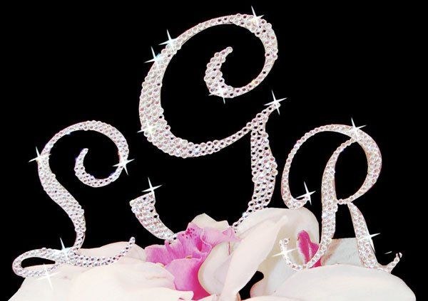 Tmx 1278884284723 Crystalmonogramcaketoppers Wrentham wedding favor