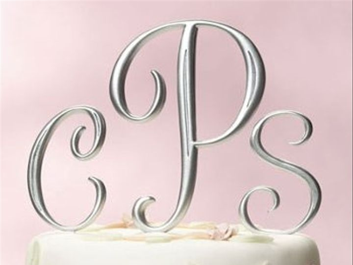 Tmx 1278884285083 Monogramcaketoppers Wrentham wedding favor
