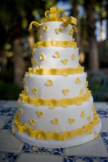 Four-tier yellow cake