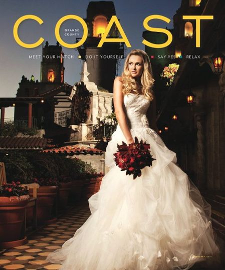 Floral Bouquet on Cover of COAST MAGAZINE February 2011 Issue at beautiful Mission Inn, Riverside,...
