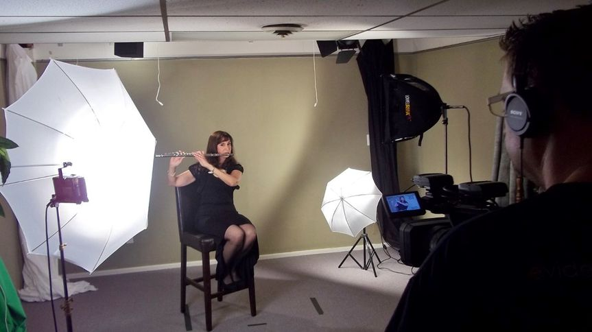 """Michele's August 23, 2012 videotaping of Miichele's """"Solo Flute Performance.""""  Solo Flute for Beach,..."""