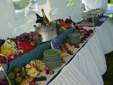 we do lovely outdoor receptions!