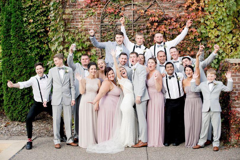 October wedding party