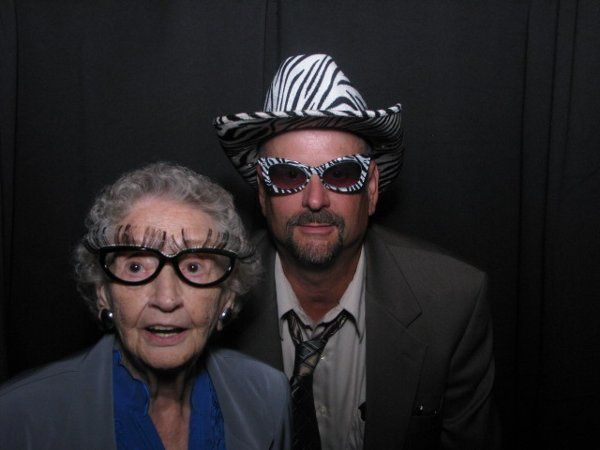 Granny Rockin the FlashBooth photo booth