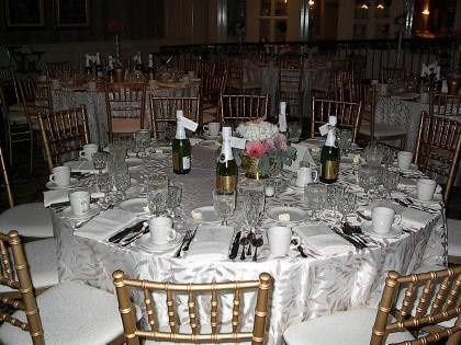Tables and chairs set-up