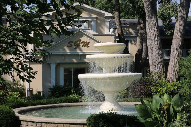 Classic white fountain