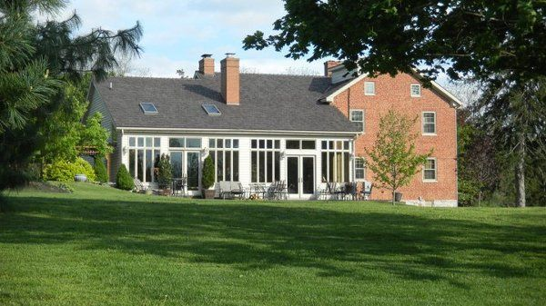 A beautiful view of the Inn and back Brick Patio