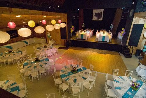 Room and stage set for function at the Bearsville Theater