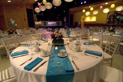 Room set for function at the Bearsville Theater