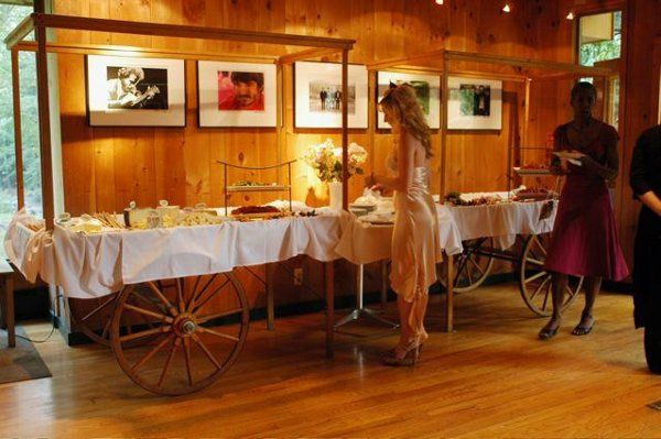 Appetizer cart at the Bearsville Theater Lounge