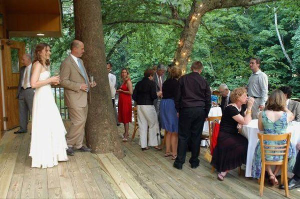 Guests on the patio served by Bear Café Catering