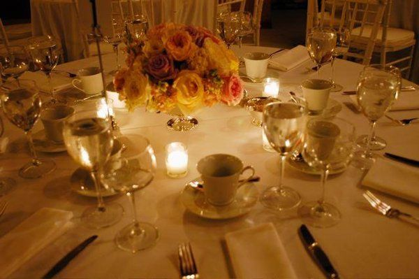 Table setting for catered function at the Bearsville Theater