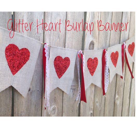 banner glitter heart 6