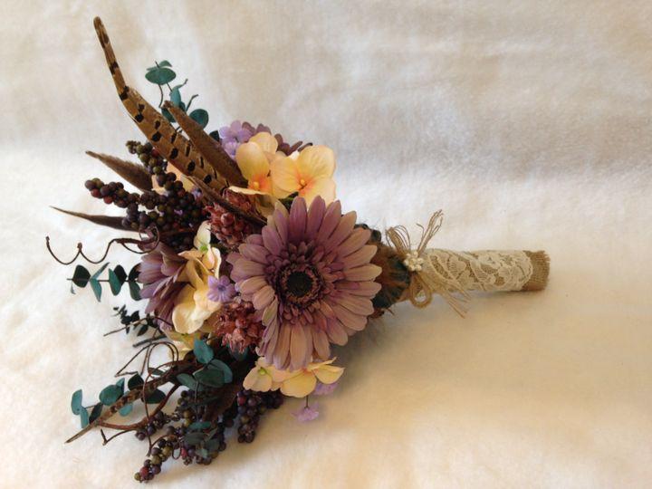 bouquet set purple daisies berries eucalyptus ph