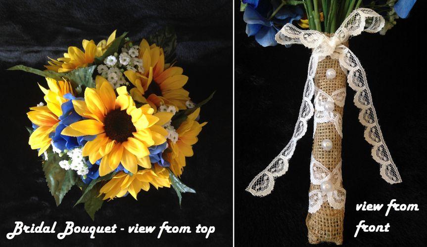 bouquet set sunflowers and blue hydrangea 5