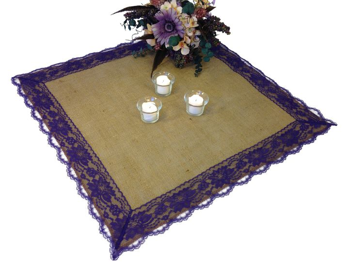 table topper purple lace 1a