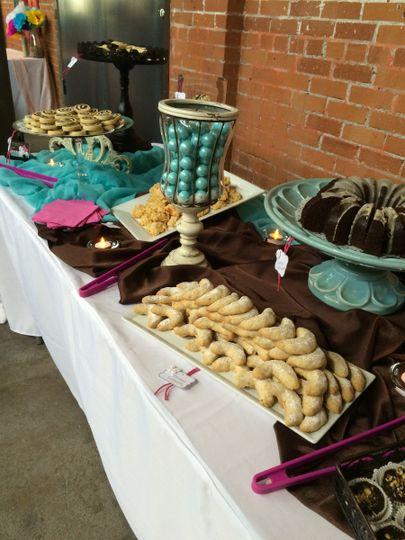 The sweet buffet