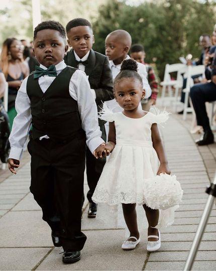 Little bride & groom