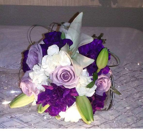 purpleandivoryboquet