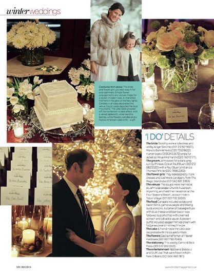 A fabulous winter wedding at the Four Seasons Hotel.
