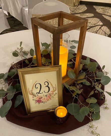 Wood lantern/table #