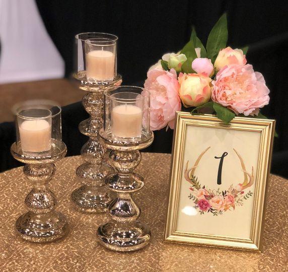 Set/3 mercury candleholders