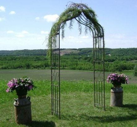 Tmx Rustic Brown Metal Arch 51 110294 161688373591501 Fairfax, MN wedding rental