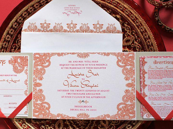 Tmx 1373661099294 Amishavikrom2 Burlington wedding invitation