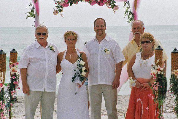 Wedding on beach in Sarasota Florida