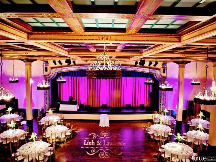 Tmx 1348519440737 Thepradobalboaparkgrandballroomuplightsandcustomgobo San Diego wedding eventproduction