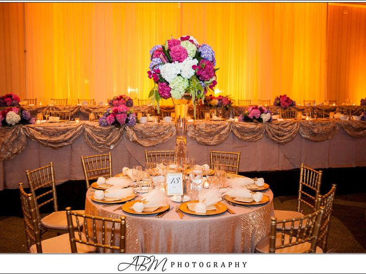 Tmx 1432239761382 Head Table Backdrop With Amber Uplights San Diego wedding eventproduction