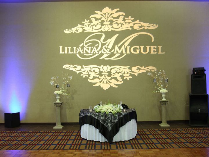 Tmx 1432240012633 Four Points Sheraton San Diego Custom Gobo Light San Diego wedding eventproduction
