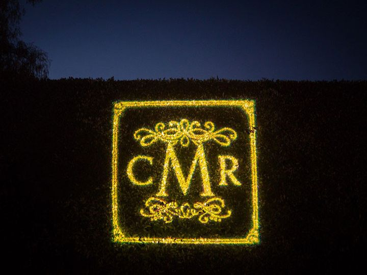 Tmx 1432240367125 Gobo Monogram On Foliage Hedge San Diego wedding eventproduction